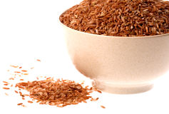 Bowl of red rice Stock Photography