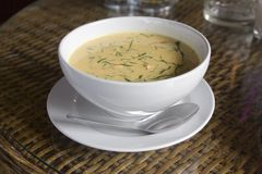 Bowl of red Thai curry Stock Images