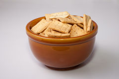 Bowl of reganas, typical andalusian breadsticks, served on rusti Stock Images