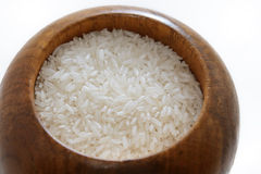 Bowl of rice. A bowl of rice with white background Stock Photo