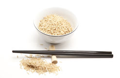 Bowl of rice & chopstick Stock Photography