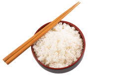 Bowl Of Rice And Chopstick VII Royalty Free Stock Photo