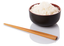 Bowl Of Rice And Chopstick VIII Royalty Free Stock Photo