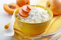Bowl of rice flakes porridge royalty free stock photo
