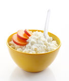 Bowl of rice flakes porridge Royalty Free Stock Photo