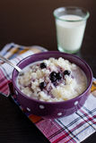 Bowl of rice porridge Royalty Free Stock Photography