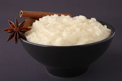Bowl of rice pudding Stock Image