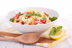 Bowl of rice salad Royalty Free Stock Photography