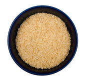 Bowl of rice top view Stock Photo
