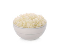 Bowl of Rice on White Background Royalty Free Stock Photos