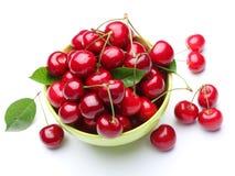 Bowl with rioe cherries. Royalty Free Stock Photos