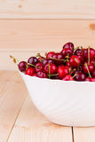 Bowl of ripe cherries Stock Image