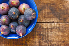 Bowl of ripe figs Royalty Free Stock Photography