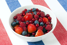 A bowl of ripe and fresh berry fruit Stock Image