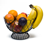 Bowl of ripe fruit royalty free stock photography