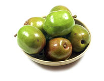 Jocotes in bowl. Stock Photo