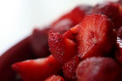 Bowl of Ripe Strawberries Royalty Free Stock Image