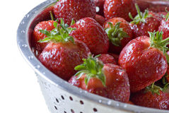 Bowl of ripe strawberries Royalty Free Stock Images