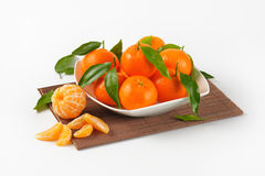 Bowl of ripe tangerines Royalty Free Stock Photography