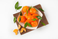 Bowl of ripe tangerines Royalty Free Stock Photos