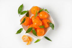 Bowl of ripe tangerines Stock Photography