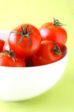 Bowl of ripe tomatoes Stock Photography