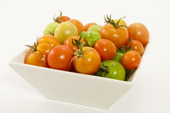Bowl of Ripening tomatoes Royalty Free Stock Photography