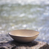 Bowl in the river. Bowl on a rock by the river Stock Images
