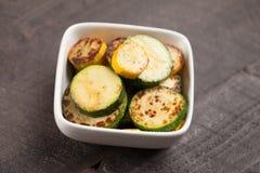 Bowl of roasted vegetables slightly above shot Royalty Free Stock Image