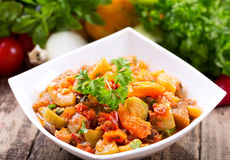 Bowl of roasted vegetables Stock Image