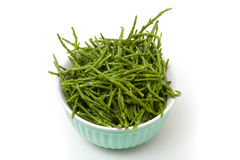 Bowl of rock samphire Royalty Free Stock Photography