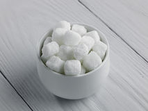 Bowl of rock sugar Stock Photography