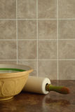 Bowl with rolling pin Stock Photos