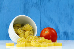 Bowl of Rotelle pasta Royalty Free Stock Image