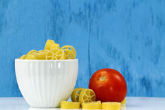 Bowl of Rotelle pasta Stock Image