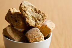 Bowl of rusks Royalty Free Stock Photo
