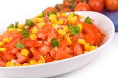 Bowl with salad stock photos