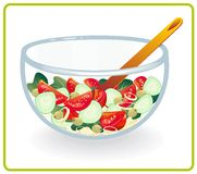 Bowl with salad Stock Photography