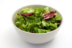 Bowl of salad. On a white background Stock Photo