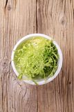 Bowl of salad greens Royalty Free Stock Photo