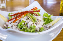 Bowl of Salad in a Restaurant Setting Stock Photos