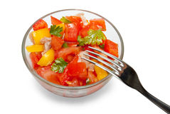 Bowl with salad Royalty Free Stock Photos