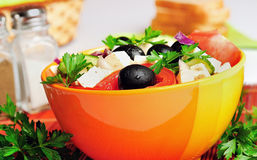 Bowl with salad Stock Images