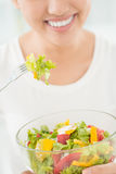 Bowl with salad Stock Image