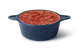 bowl of Salsa sauce royalty free stock photos