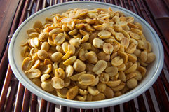 Bowl of Salted Peanuts Royalty Free Stock Images