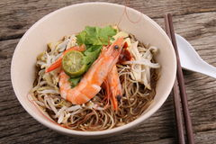 Bowl of Sarawak Laksa Stock Photos