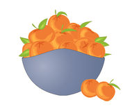 Bowl of satsumas Stock Photo