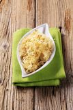 Bowl of sauerkraut royalty free stock photography
