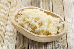 Bowl of sauerkraut Royalty Free Stock Images